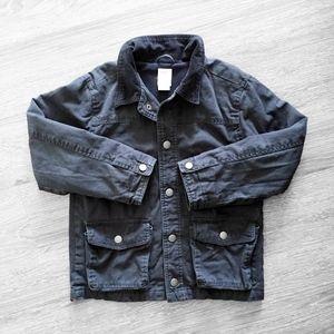 KIDS UTILITY military field black barn jacket coat